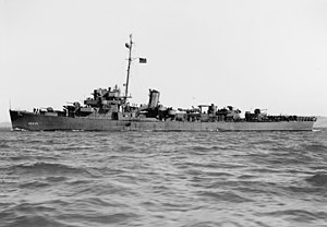USS England off San Francisco, 9 February 1944