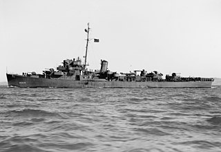 USS <i>England</i> (DE-635) Buckley-class destroyer escort of the United States Navy in service 1943-1945