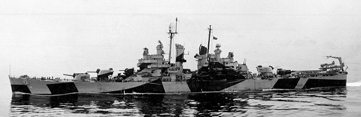 USS Pasadena (CL-65) underway off Boston on 21 July 1944 (80-G-237944)