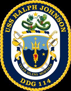 USS Ralph Johnson (DDG-114) Crest