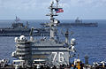 USS Ronald Reagan (CVN 76), USS Kitty Hawk (CV 63), and USS Abraham Lincoln (CVN 72) cruise side-by-side in the Philippine Sea June 18, 2006, during exercise Valiant Shield 2006 060618-N-HX866-002.jpg
