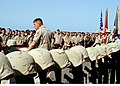 US Navy 030526-N-4048T-063 Brig. Gen. Richard F. Natonski, Commanding General 2D Marine Expeditionary Brigade addresses more than 1,000 Sailors and Marines during a Memorial Day Service conducted on the ship's flight deck.jpg
