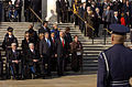 US Navy 041111-G-3024G-775 Deputy Secretary of Defense, Paul Wolfowitz, center left, and Secretary of State Colin Powell, pay their respects to the unknown servicemen laid to rest at the Tomb of the Unknowns.jpg