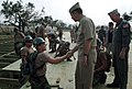 US Navy 050910-N-2383B-716 Chief of Naval Operations (CNO) Adm. Mike Mullen thanks Navy Seabees assigned to Naval Construction Battalion Center Gulfport, for their hard work in support of Hurricane Katrina relief efforts.jpg