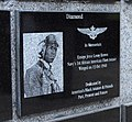 US Navy 070505-N-8933S-109 The plaque honoring Ensign Jesse Brown that was unveiled during a dedication ceremony at Naval Aviation Monument Park.jpg