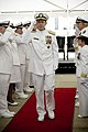 US Navy 070827-N-0696M-073 Chief of Naval Operations (CNO) Adm. Mike Mullen is piped ashore at the conclusion of the change of office ceremony for Vice Adm. Donald C. Arthur, Surgeon General and chief of the Bureau of Medicine.jpg