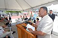 US Navy 070924-N-8704K-065 Samuel Hinds, prime minister of Guyana, speaks at an opening ceremony for the Georgetown Public Hospital.jpg
