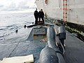 US Navy 080913-N-0000F-087 In this photo released by the U.S. Coast Guard, members of U.S. Coast Guard law enforcement detachment 404 survey the deck of the self-propelled, semi-submersible craft seized.jpg