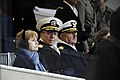US Navy 090120-A-3085H-718 Deborah Mullen, Adm. Mike Mullen and Adm. Thad W. Allen watch the 2009 Inaugural Parade from the presidential reviewing stand.jpg