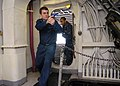 US Navy 090404-N-0901C-155 Hull Maintenance Technician 3rd Class Colin Powers and Store Keeper Seaman Daniel Daily sweep a room for suspects during Armed Sentry-Ships Reaction Force Basic (AS-SRFB).jpg