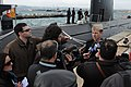 US Navy 100211-N-7730P-011 Rear Adm. John Richardson holds a press conference to mark the start of Noble Manta 2010.jpg