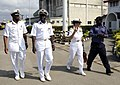 US Navy 100308-N-7948C-091 U. S. Navy Capt. Cindy Thebaud, second from right, commander of Africa Partnership Station (APS) West, tours the Nigerian Naval Dock Yard with Nigerian navy Capt. Dan Agundi.jpg
