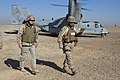 US Navy 111218-M-LU710-001 Secretary of the Navy (SECNAV) the Honorable Ray Mabus and Maj. Gen. John A. Toolan arrive at Patrol Base Boldak.jpg