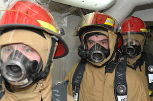 US Navy 120109-N-GZ832-071 Sailors participate in a firefighting drill.jpg
