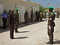 Ugandan AMISOM Guard of Honour for Burundi Defence Minister (6243505602).jpg