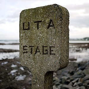 Ulster Transport Authority - Disused concrete bus stop in County Down