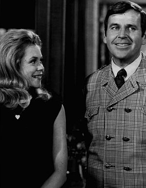 "Paul Lynde - Lynde as Uncle Arthur with Elizabeth Montgomery in the 1968 Bewitched episode, ""The No Harm Charm"""