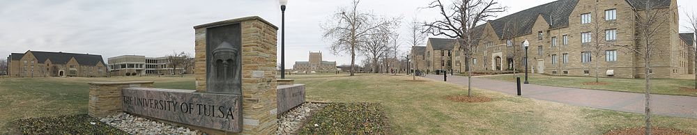 The University of Tulsa viewed from South Delaware Avenue