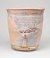 Upper sectoin of a blue-painted Hathor Jar from Malqata MET 11.215.473 view 3.jpg