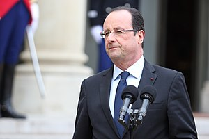 November 2015 Paris attacks - President François Hollande (pictured in 2013) was at the Stade de France during the attacks