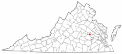 Location of Lakeside, Virginia