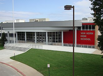 Independence, Missouri - Photograph of Van Horn High School in Independence, MO after the 2011 renovation.