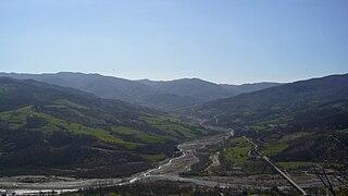 Ceno river in Italy