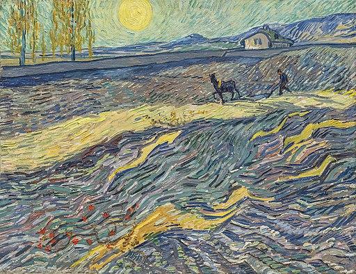 Van Gogh - Acker mit pflügenden Bauern