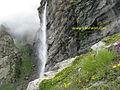 Vasudhara Falls, 6 Kilometer trek from Mana village near Badrinath.jpg