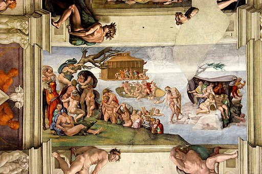Michelangelos Painting of the Sistine Chapel Ceiling