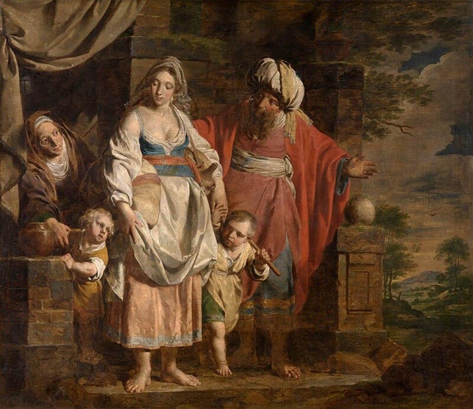 Verhaghen, Pieter Jozef - Hagar and Ishmael Banished by Abraham - 1781