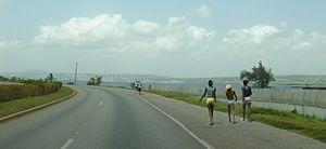 Transport in Cuba - Via Blanca highway near Matanzas