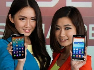 Lenovo - The Vibe X smartphone presented by models at launch