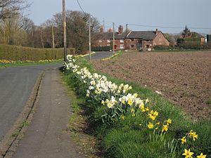 Westhead - Image: Vicarage Lane, Westhead Geograph 1808255