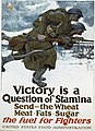 Victory is a question of stamina-Send - the wheat, meat, fats, sugar-The fuel for fighters LCCN2002709058.jpg