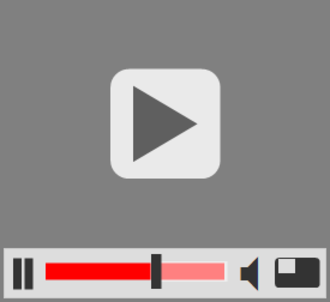 Video clip - A detailed icon for video e.g. to link to video content on a website