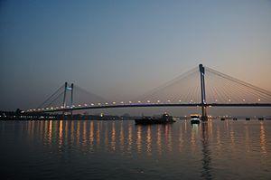 Vidyasagar Setu - River Hooghly 2014-01-01 1889