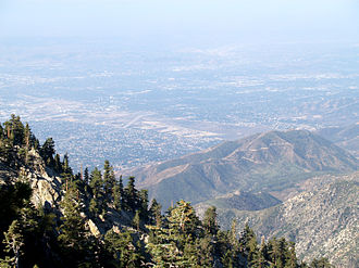 Cucamonga Valley AVA - View of the Cucamonga Valley AVA from Cucamonga Peak