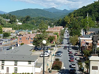 National Register of Historic Places listings in Jackson County, North Carolina - Image: View of Downtown Sylva, NC