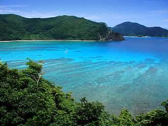 Setouchi, Kagoshima - Image: View of Katetsu cove from nearby Manen zaki
