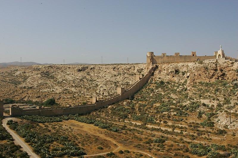 File:View of walls of Alcazaba of Almeria.jpg