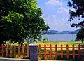 View to the Mladost lake , Veles.jpg