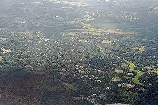 Virginia Water village in the United Kingdom