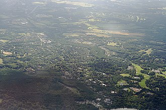 Virginia Water - Image: Virginia Water aerial view