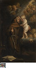 The Infant Christ appears to Saint Antony