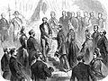 Visite de Maximilien et Charlotte à l'empereur Napoléon III le 5 mars 1864.jpg