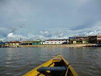 Vista de Benjamin Constant desde el Amazonas.JPG