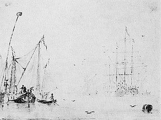 Żaglówki i statek na spokojnym morzu
