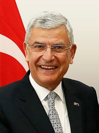 Minister of European Union Affairs (Turkey) - Image: Volkan Bozkır April 2016 (26358127551) (cropped)