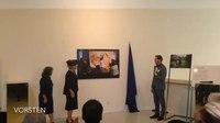 File:Vorsten TV- Prinses Beatrix opent foto-expositie in regenachtig Hilversum.webm